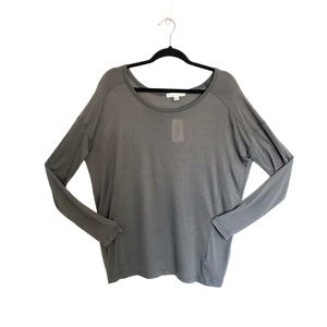 NWT Forever 21 Gray Flowy Long Sleeve T-shirt